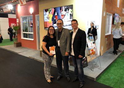 Carol Zanella, Fernando Ibiapina e Rivanildo Hardman na  Casa Cerâmica.